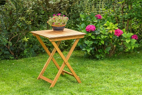 Gartenklappentisch 60 x 60 cm