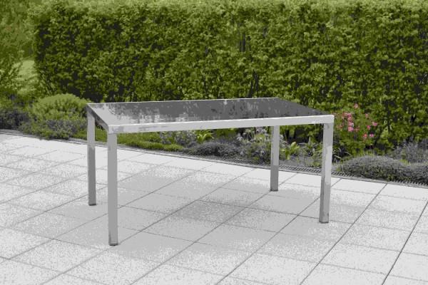 Tisch 150 x 90cm - graue Platte