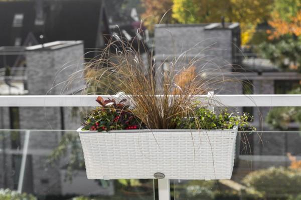 Blumenkasten weiß, 60x19x19 cm