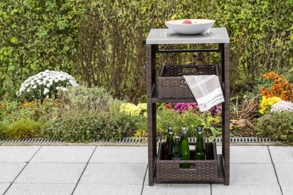 Gartensideboard für den Spültisch Kunststoffgeflecht