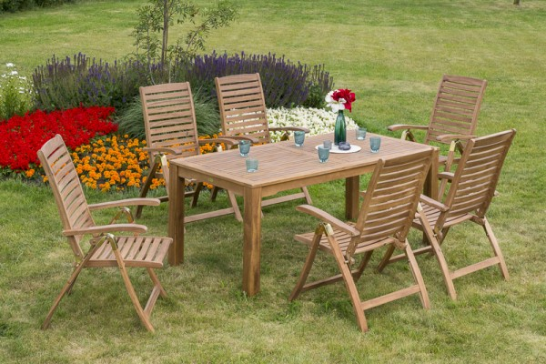 Gartenmöbelset Paraiba 7tlg. - Tisch 185x90 cm