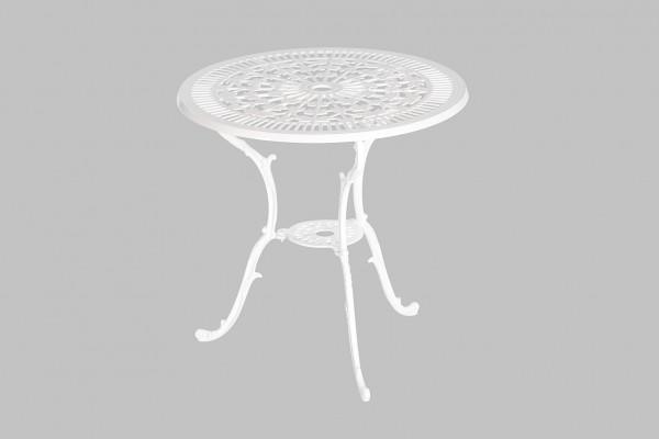 Lugano Ornament Tisch Ø 70 Weiß