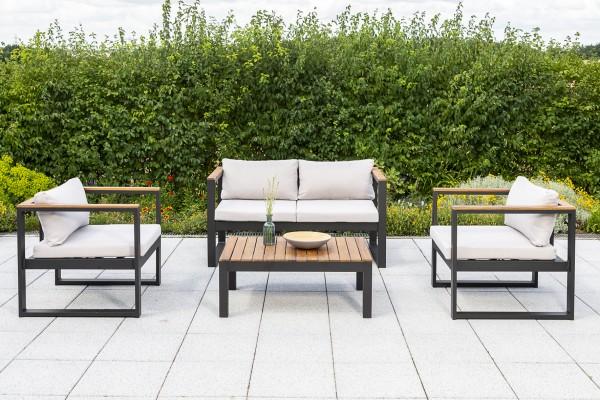 Mykonos Lounge Set 6tlg. 2er Bank, 2 Sessel & Tisch