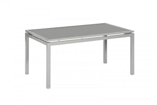 Sorrento Set 7tlg. mit Tisch 160x 90 cm silber/ taupe