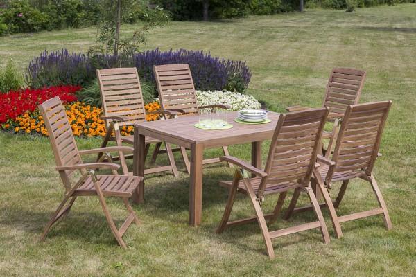 Gartenmöbelset Paraiba 7tlg. Tisch 150(200)x 90cm