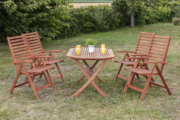 Gartenmöbelset Bahia 5tlg. Rechteckiger Tisch