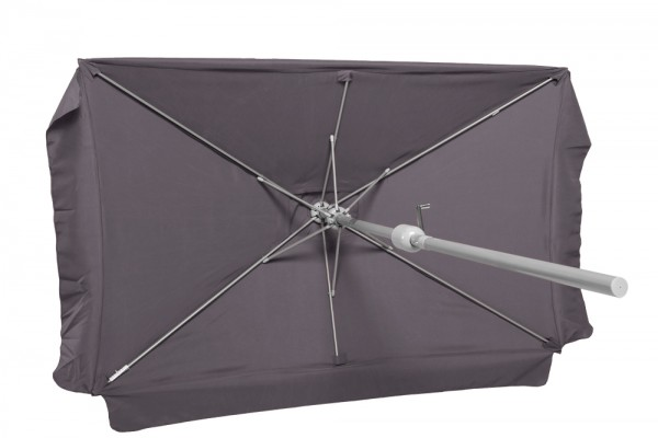 Schirm 120 x 190 cm, grau